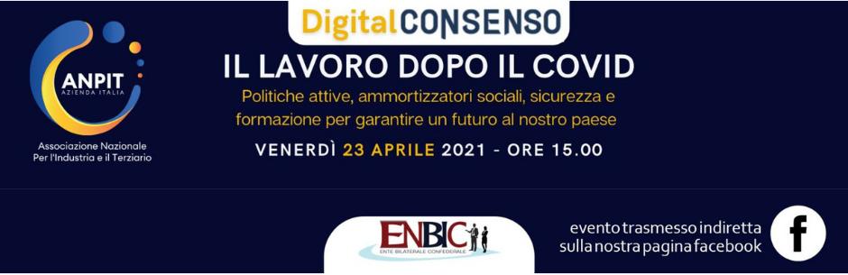 Immagine di copertina di: Il lavoro dopo il Covid, venerdì il dibattito digitale da Enbic