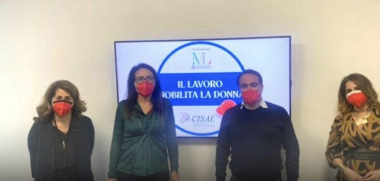 """Immagine di copertina di: """"Il lavoro nobilita la donna"""": a Napoli al via la campagna di sensibilizzazione firmata Cisal"""